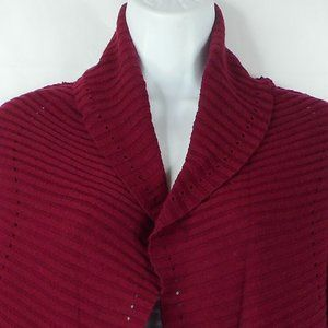 Sonoma Sweater PM Red Long Sleeve Open Cardigan